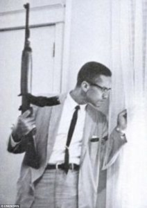 Iconic Ebony picture, in 1964, of Malcolm x with gun