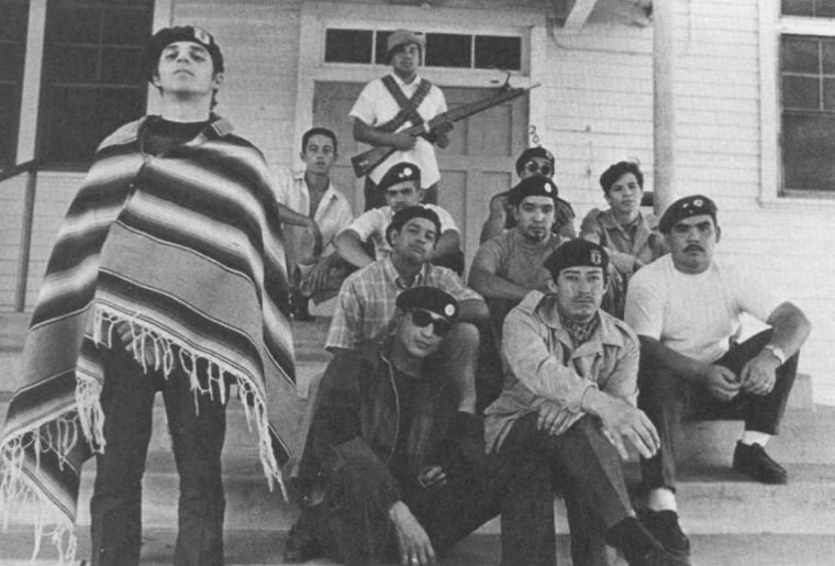 Picture of eleven members of Brown Berets, the date of which is not known