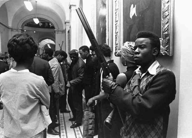 Black Panthers inside of the California state house on May 2, 1967