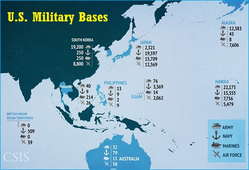 US bases near China as of Feb. 2016