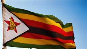 Flag of the independent Republic of Zimbabwe currently.